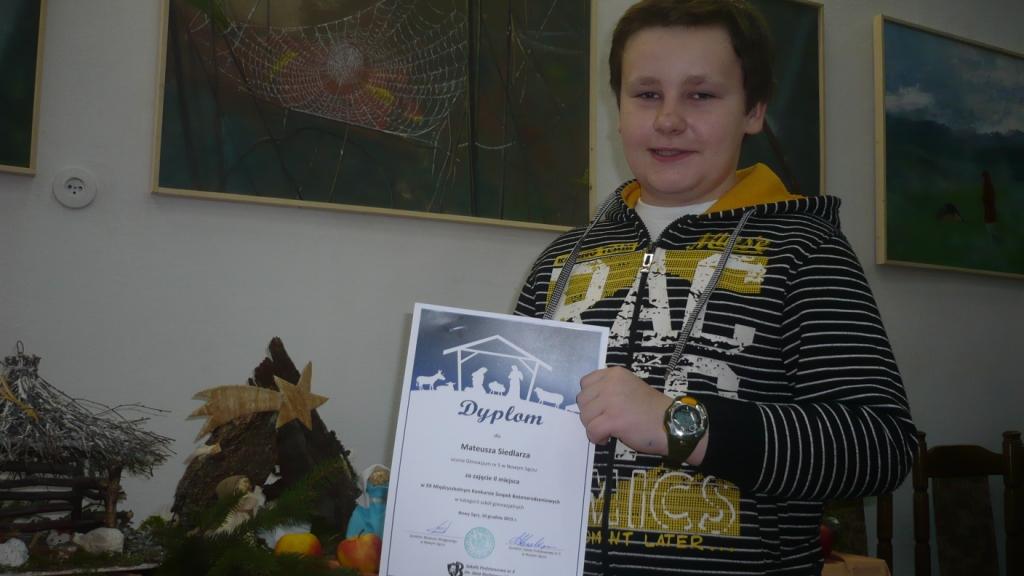 Sukces Mateusza Siedlarza z klasy Ie