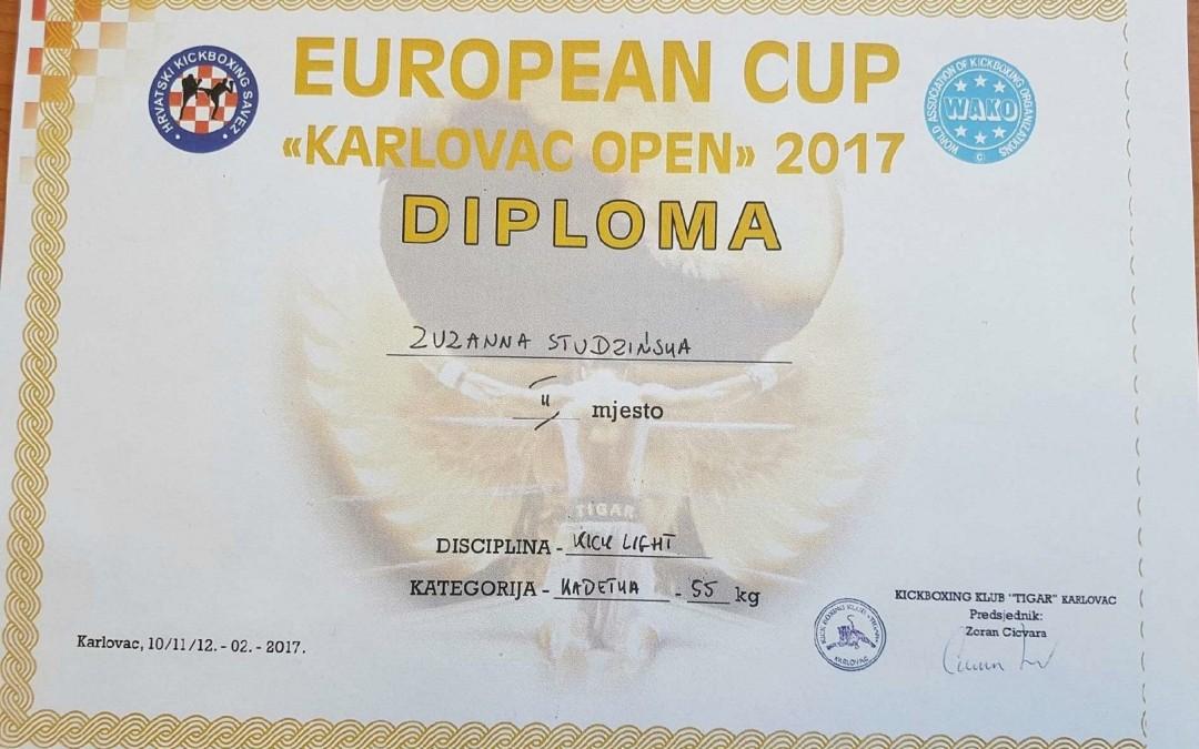 Zuza Studzińska z 3 c srebrną medalistką Pucharu Europy w Chorwacji.